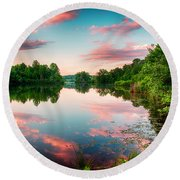 Cathey's Reflection Round Beach Towel