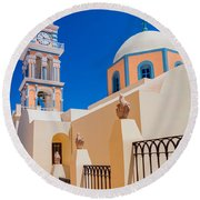 Catholic Cathedral Church Of Saint John The Baptist Round Beach Towel