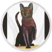 Cats Meow Round Beach Towel