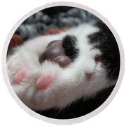 Round Beach Towel featuring the photograph Cats Paw by Kim Henderson