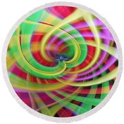 Caught Up In A Colorful Swirl Round Beach Towel