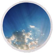Round Beach Towel featuring the photograph Cause For Hope by SR Green