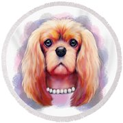 Cavalier Pearls  Round Beach Towel