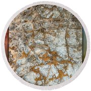Cave Abstraction.... Round Beach Towel