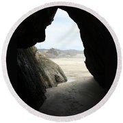 Cave Dweller Round Beach Towel