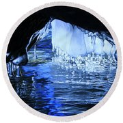 Round Beach Towel featuring the photograph Cave Dwellers by Sean Sarsfield