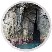 Cave Entrance Round Beach Towel