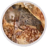Cave Of The Hands Patagonia Argentina Round Beach Towel