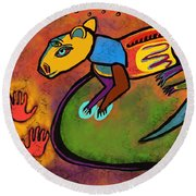 Cave Rat Round Beach Towel by Hans Magden
