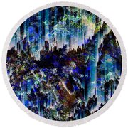 Cavern Round Beach Towel