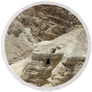 Caves Of The Dead Sea Scrolls Round Beach Towel