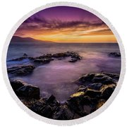 Ceapabhal And Traigh Mohr, Isle Of Harris Round Beach Towel