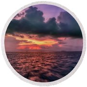 Round Beach Towel featuring the photograph Cebu Straits Sunset by Adrian Evans