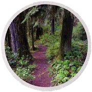 Cedar Creek Trail #3 Round Beach Towel