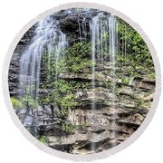 Round Beach Towel featuring the photograph Cedar Falls by JC Findley