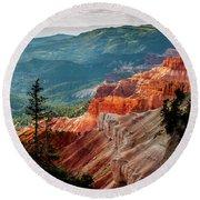 Round Beach Towel featuring the photograph Cedar Mountains From Cedar Breaks by TL Mair
