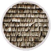 Cedar Shingles Pattern Round Beach Towel by Edward Fielding