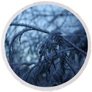 Cedars Of Ice Round Beach Towel