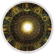 Ligth  Burst Round Beach Towel
