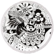 Ceilings And Floors 1 Round Beach Towel