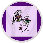 Celebrate Diversity Round Beach Towel by Tanielle Childers