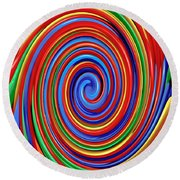 Celebrate Life And Have A Swirl Round Beach Towel