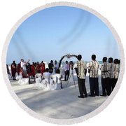 Celebrate Marriage In Kenya Round Beach Towel