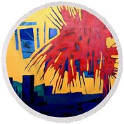 Celebrate The Day Round Beach Towel