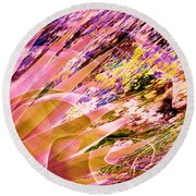 Celebration In Pink Round Beach Towel