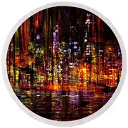 Celebration In The City Round Beach Towel