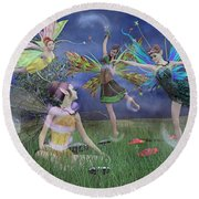 Celebration Of Night Alice And Oz Round Beach Towel by Betsy Knapp