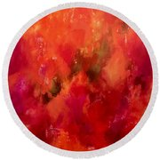 Celebrations Wedding Orange Abstract  Round Beach Towel