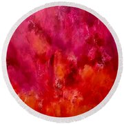 Celebrations Wedding Pink Abstract  Round Beach Towel