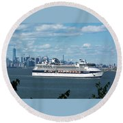 Celebrity Summit Round Beach Towel