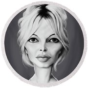 Celebrity Sunday - Brigitte Bardot Round Beach Towel