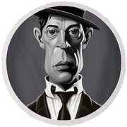 Celebrity Sunday - Buster Keaton Round Beach Towel