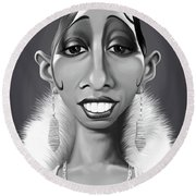 Celebrity Sunday - Josephine Baker Round Beach Towel