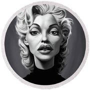 Celebrity Sunday - Marilyn Monroe Round Beach Towel