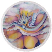 Celestial Eye Round Beach Towel