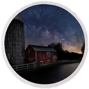 Round Beach Towel featuring the photograph Celestial Farm by Bill Wakeley