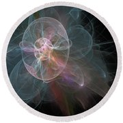 Round Beach Towel featuring the photograph Celestial Jellyfish by Ronda Broatch