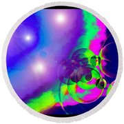 Round Beach Towel featuring the photograph Celestial Navigation by Susanne Still