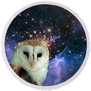 Celestial Nights Round Beach Towel