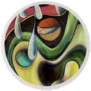 Celestial Rhythms  Round Beach Towel