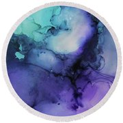 Celestial Round Beach Towel by Tracy Male