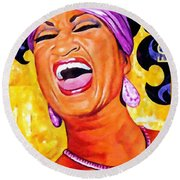 Celia Cruz Round Beach Towel by Lanjee Chee