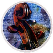 Cello Masters Round Beach Towel
