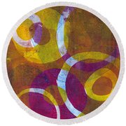 Cells 2 Round Beach Towel