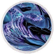 Cells Divided Round Beach Towel