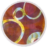 Cells I Round Beach Towel